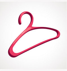 cartoon clothes hanger vector image