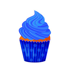 Cartoon style of sweet cupcake vector