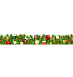 christmas border isolated vector image