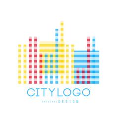 City logo original design abstract geometric vector