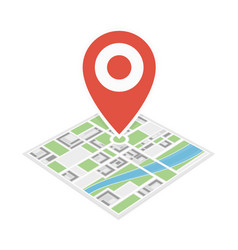 city map with pin vector image