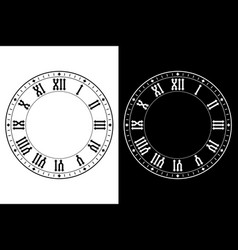 clock with roman numerals vector image