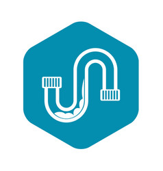 Clog in pipe icon simple style vector