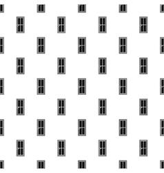 Closed wooden door pattern simple style vector