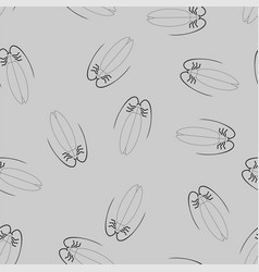 cockroach pattern seamless insect background vector image