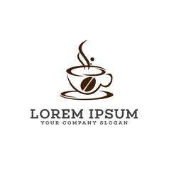 coffee logo design concept template vector image