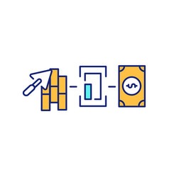 Commercial civil engineering rgb color icon vector