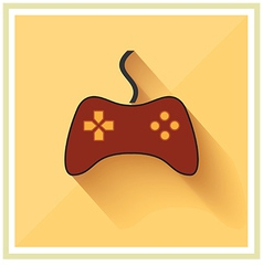 Computer Video Game Controller Joystick Flat Icon vector image