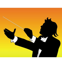 Conductor silhouette vector