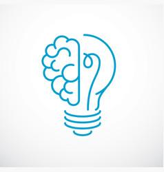 creative brain concept intelligent creation logo vector image