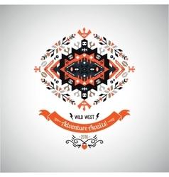 decorative element on native ethnic style vector image