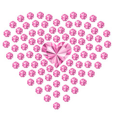 Diamonds heart love jewelry the image for a vector