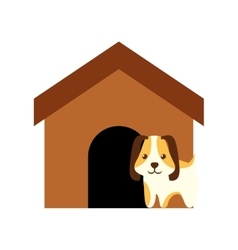 Dog animal pet ear long brown house vector