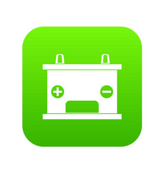electricity accumulator battery icon digital green vector image