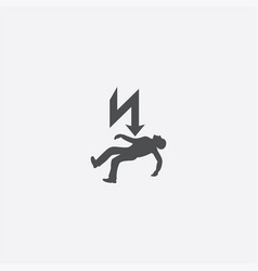 electrocution risk icon vector image