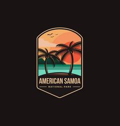 emblem patch logo american samoa national park vector image