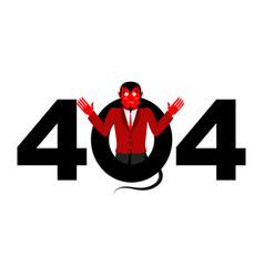 error 404 devil surprise page not found template vector image
