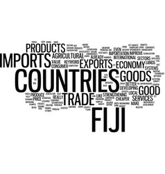 Fiji imports text background word cloud concept vector