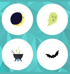 Flat icon festival set of phantom crescent magic vector