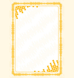 Frame and border with yellow volume levels for vector