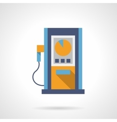 Fuel station flat color design icon vector image