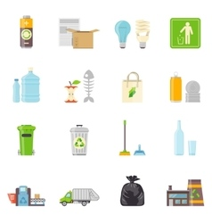 Garbage Recycling Icons Set vector image