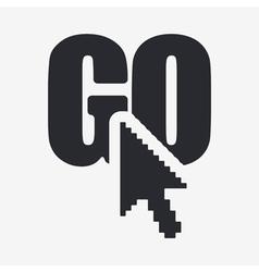 go button icon vector image