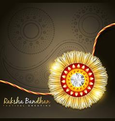 Golden rakhi vector
