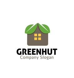 Green Hut Design vector image