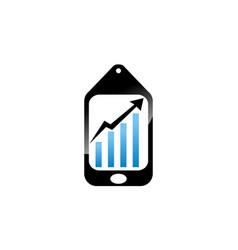 grow business via phone vector image