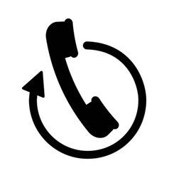 handset phone icon vector image