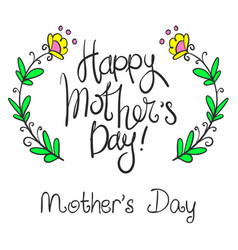 happy mother day style collection vector image