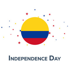 independence day of colombia patriotic banner vector image