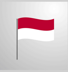 indonesia waving flag vector image