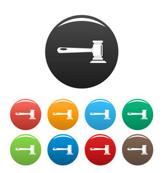 justice icons set color vector image