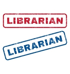 Librarian Rubber Stamps vector