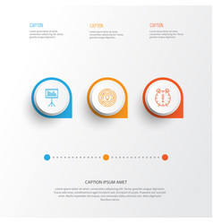Management icons set collection of presentation vector
