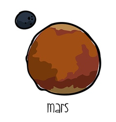 Mars drawn vector