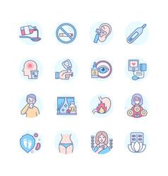 Medication - modern line design style icons set vector