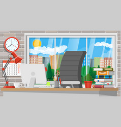 modern creative office or home workspace vector image