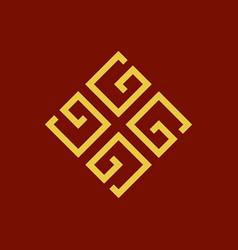 monogram g initial logo vector image