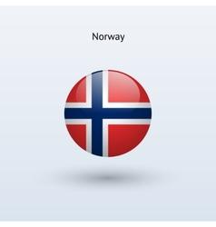 Norway round flag vector
