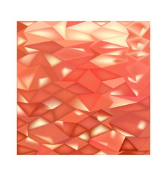 Orange Crystals Abstract Low Polygon Background vector