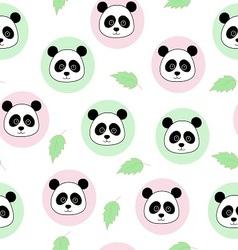 pandas in a circle vector image