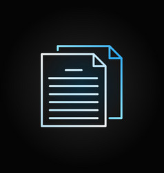 papers or documents colorful outline icon vector image