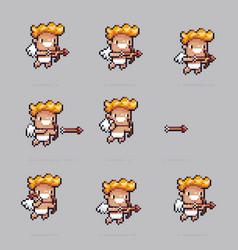 pixel art cupid vector image