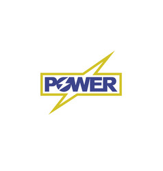 power-logo vector image