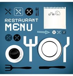 Restaurant Menu Template - Design Elements vector image vector image