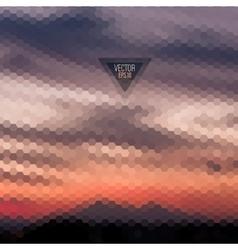 Retro landscape pattern geometric shapes vector