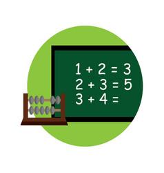 School board math cartoon graphic design vector